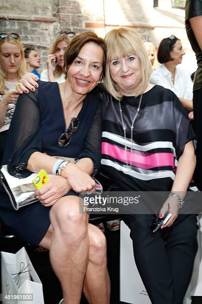 Patricia Riekel attends the Schumacher show during the MercedesBenz Fashion Week Spring/Summer 2015 at Sankt Elisabeth Kirche on July 10 2014 in...