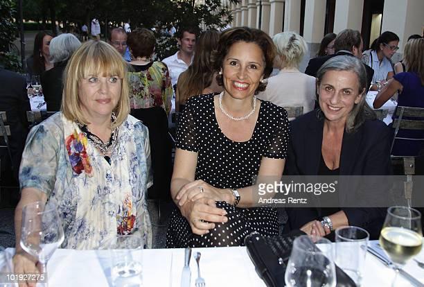Patricia Riekel Chief Editor Bunte Magazin politician Christine Haderthauer and designer Gabriele Strehle attend the DLDwomen Chairwoman Dinner at...