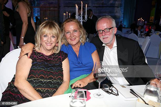 Patricia Riekel Gabriele Walther and Ulrich Limmer during the 70th anniversary of Arthur Brauner's CCC Film Studios on September 23 2016 in Berlin...