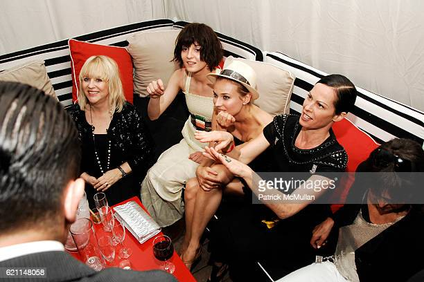 Patricia Riekel Irina Lazareanu Diane Kruger and Lady Amanda Harlech attend CHANEL 2008 Cruise Collection Afterparty at The Raleigh Hotel on May 15...