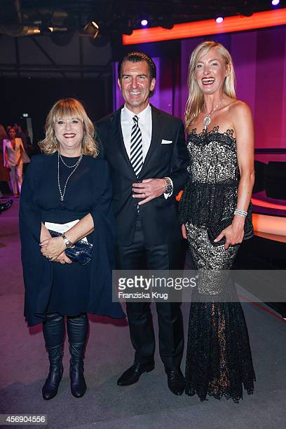 Patricia Riekel Philipp Welte and MarieLouise Lilly zu SaynWittgenstein attend the Tribute To Bambi 2014 on September 25 2014 in Berlin Germany