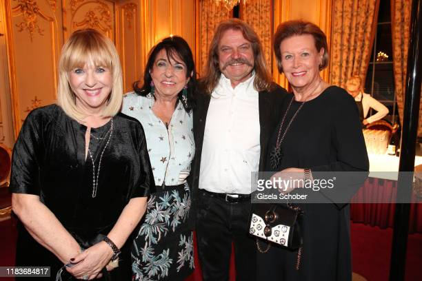Patricia Riekel Regine Sixt Leslie Mandoki and Eva Brandl Owner of Aigner during the Tribute to Bambi after show party at Casino BadenBaden on...