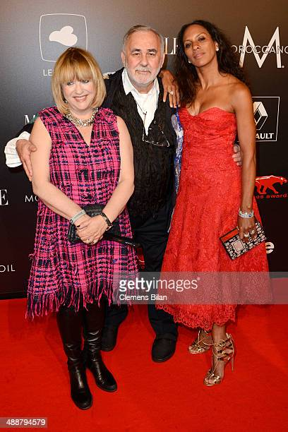 Patricia Riekel Udo Walz and Barbara Becker attend Leonardo at the New Faces Award Film 2014 at eWerk on May 8 2014 in Berlin Germany