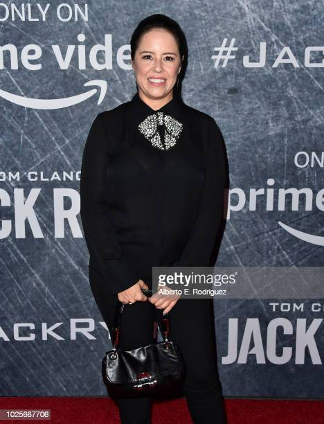 Patricia Riggen attends the premiere of Amazon Prime's of Tom Clancy's Jack Ryan at the Battleship Iowa on August 31 2018 in San Pedro California