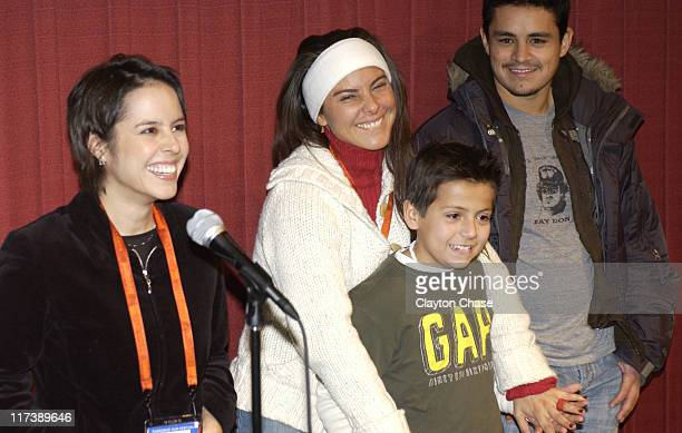 Patricia Riggen director Kate Del Castillo Adrian Alonso and Jesse Garcia