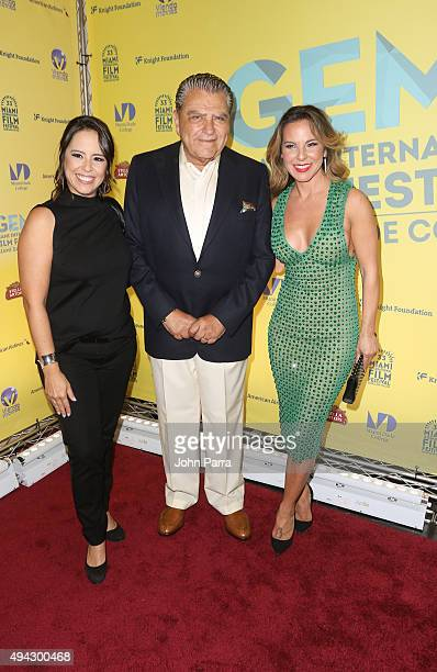Patricia RiggenMario Kreutzberger aka Don Francisco and Kate del Castillo and attend movie premier Los 33 as Don Francisco receives Miami Dade...