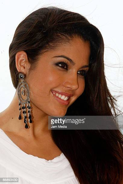 Patricia Rodriguez Miss Spain 2008 poses for a photograph in Cancun where they have begun the program of previous activities to the contest Miss...