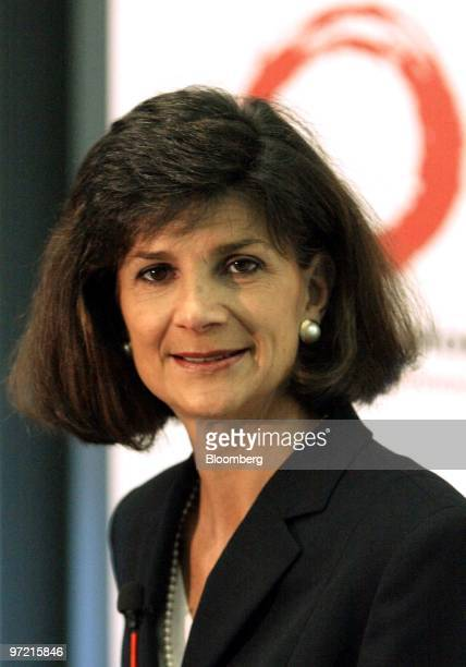 Patricia Russo, chairman and chief executive of Lucent Technologies poses at a press conference at the Cebit technology fair in Hanover, Germany...
