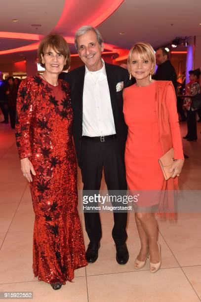 Patricia Scherer Dieter Hermann and his wife Dieter Hermann during the 70th anniversary celebration of the tabloid newspaper Abendzeitung at...