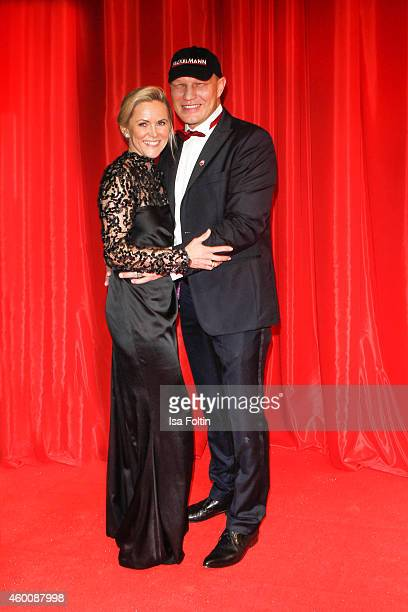 Patricia Schulz and Axel Schulz attend the Ein Herz fuer Kinder Gala 2014 at Tempelhof Airport on December 6 2014 in Berlin Germany