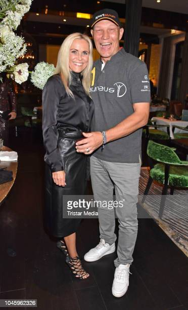 Patricia Schulz and her husband Axel Schulz attend the charity event PLACE TO B Playing for Charity at Restaurant GRACE on October 4 2018 in Berlin...