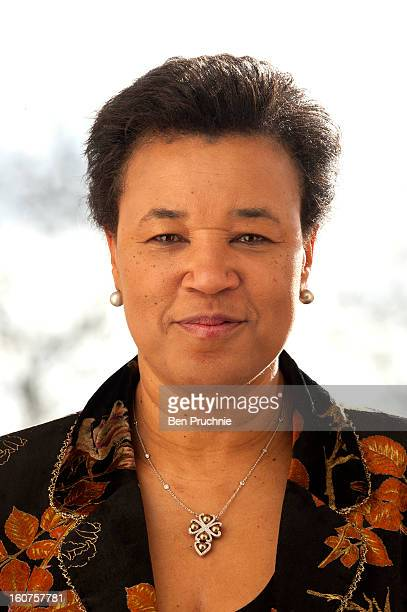 Patricia Scotland Baroness Scotland of Asthal attends a photocall to promote One Billion Rising a global movement aiming to end violence towards...