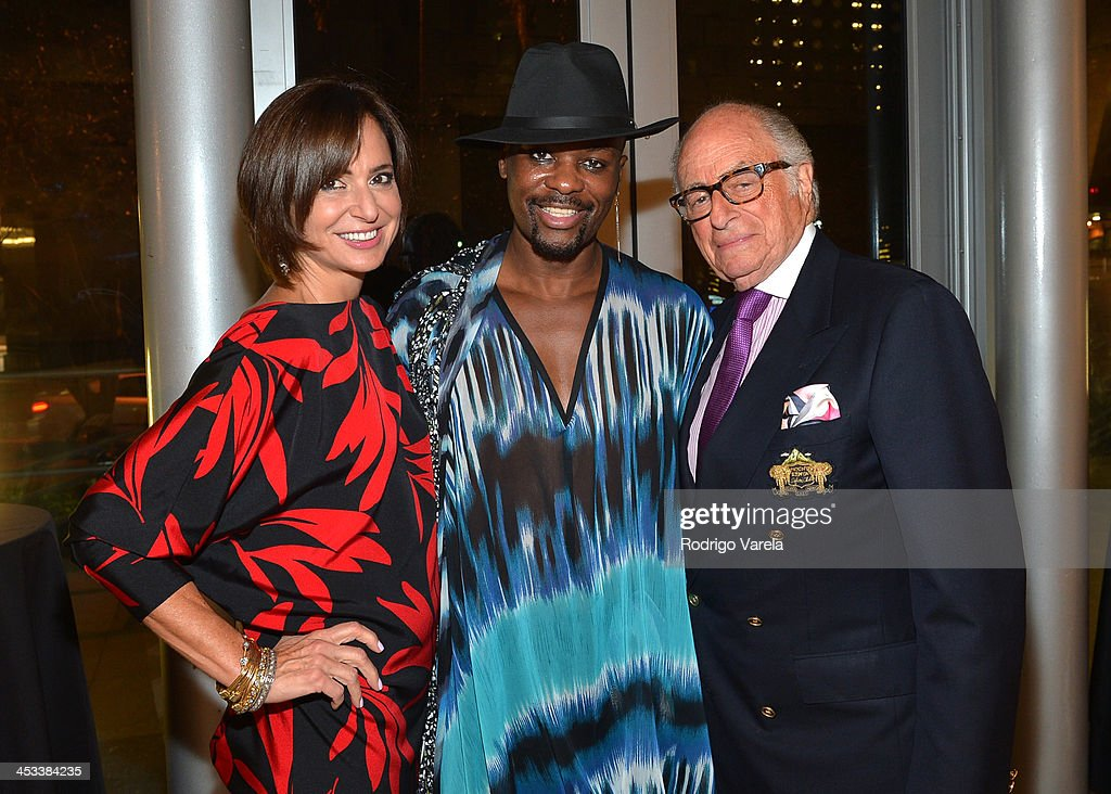 Patricia Shaheen, Malcolm Harris, and Bob Shaheen attend the Roman Kriheli Un:veiled Exhibit At Avant Gallery, Featuring The Unveiling Of 'The Most Beautiful Woman In The World' Painting at Epic Hotel on December 3, 2013 in Miami, Florida.