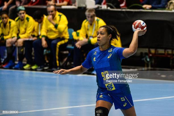 Patricia Silva of Brazil during the handball women's international friendly match between France and Brazil on October 1 2017 in TremblayenFrance...