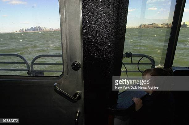 Patricia Smith rides New York Waterways ferry dedicated to her mother, Police Officer Moira Smith, who was killed in the World Trade Center tragedy.