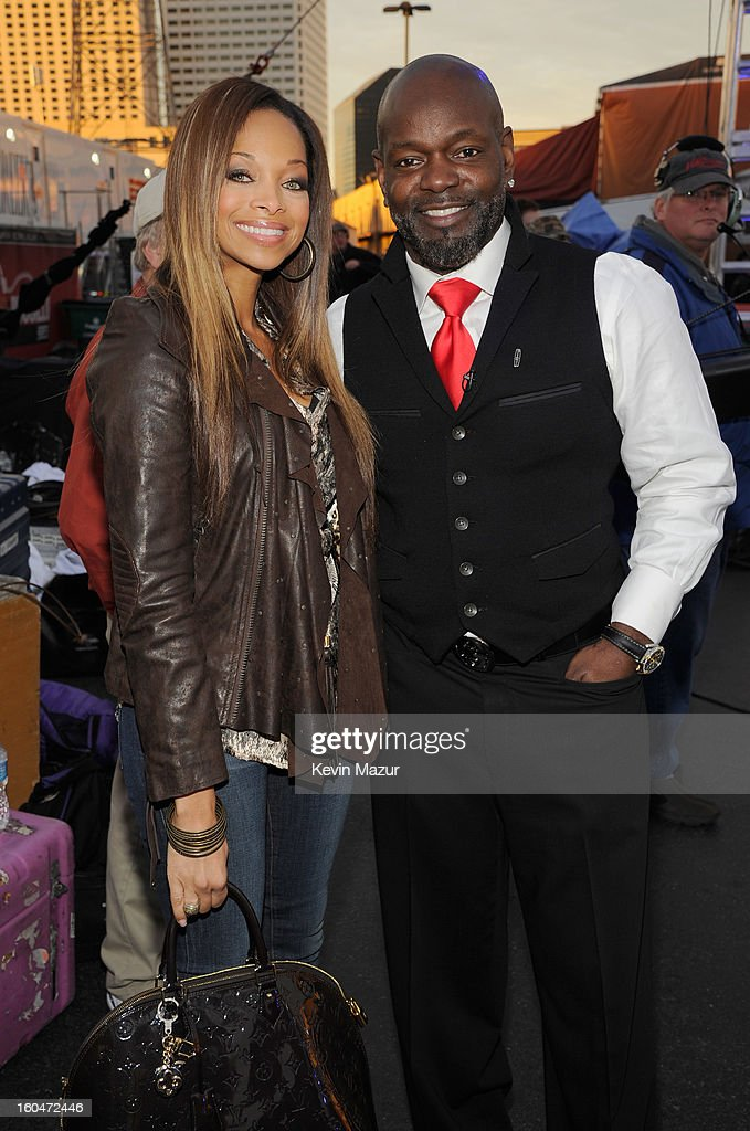 Patricia Southall and Emmitt Smith attend ABC's 'Good Morning America' at the House of Blues on February 1, 2013 in New Orleans, Louisiana.