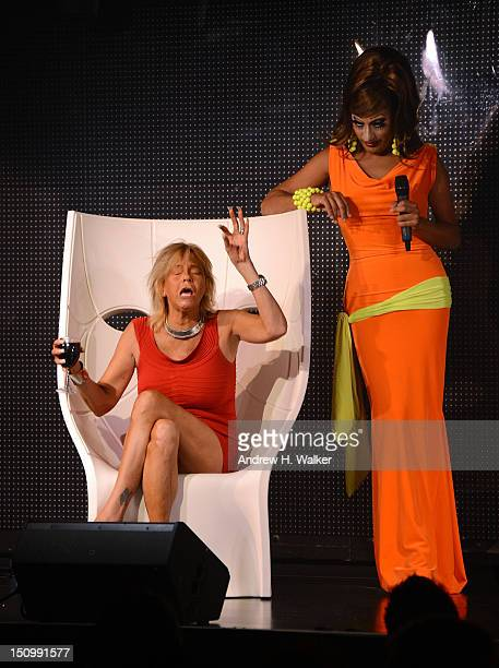 Patricia Tan Mom Krentcil and Roy Haylock talk on stage at the XL Cabaret on August 29 2012 in New York City