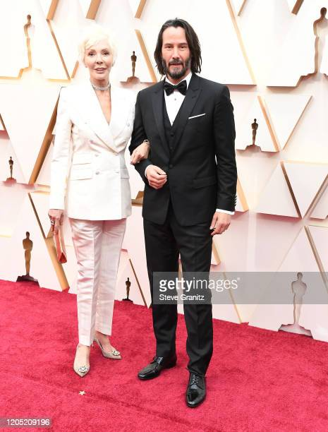 Patricia Taylor and Keanu Reeves arrives at the 92nd Annual Academy Awards at Hollywood and Highland on February 09, 2020 in Hollywood, California.