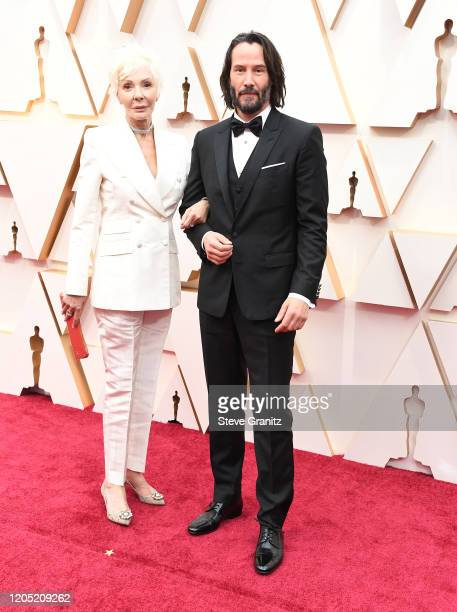 Patricia Taylor and Keanu Reeves arrives at the 92nd Annual Academy Awards at Hollywood and Highland on February 09 2020 in Hollywood California