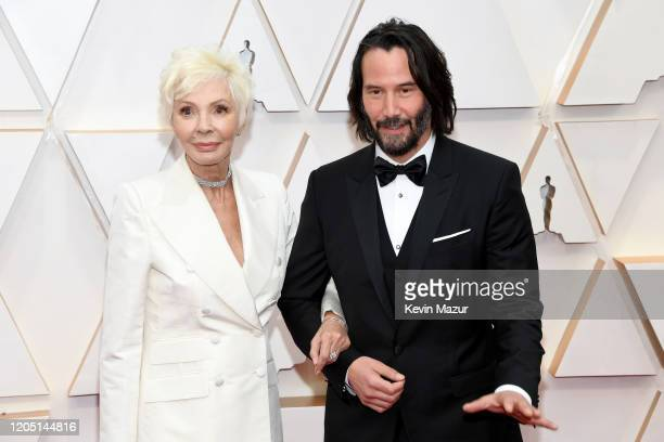 Patricia Taylor and Keanu Reeves attend the 92nd Annual Academy Awards at Hollywood and Highland on February 09 2020 in Hollywood California
