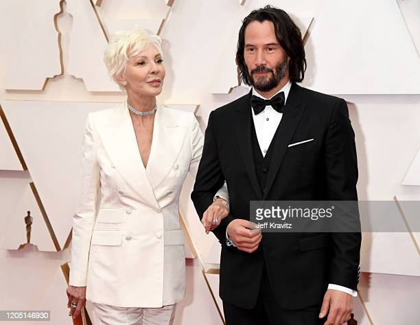 Patricia Taylor and Keanu Reeves attend the 92nd Annual Academy Awards at Hollywood and Highland on February 09, 2020 in Hollywood, California.
