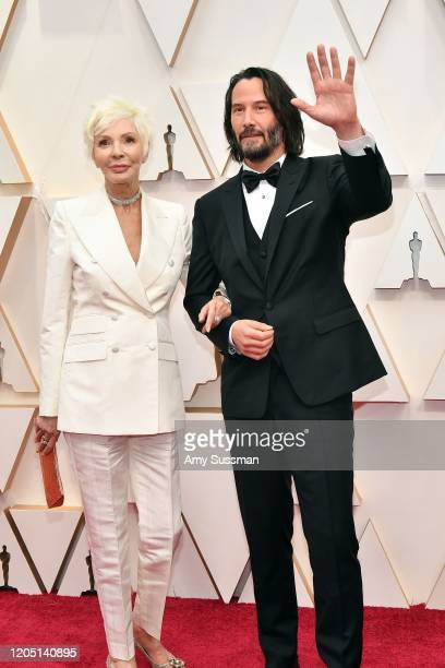 Patricia Taylor and Keanu Reeves attends the 92nd Annual Academy Awards at Hollywood and Highland on February 09 2020 in Hollywood California