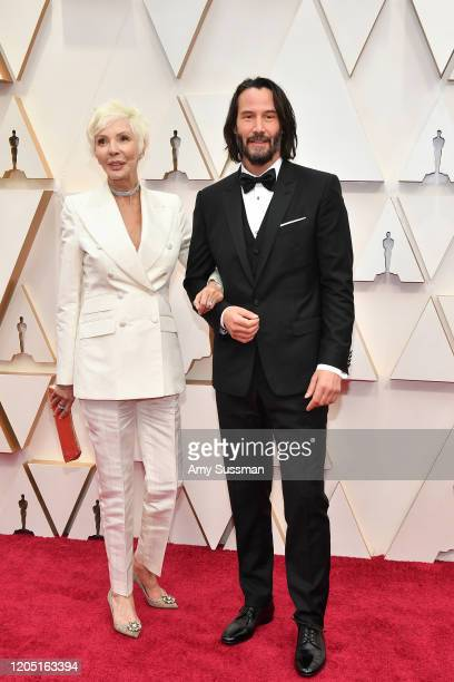 Patricia Taylor and Keanu Reeves attends the 92nd Annual Academy Awards at Hollywood and Highland on February 09, 2020 in Hollywood, California.