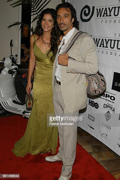 Patricia Velasquez and Carlos Leon attend Wayuu Taya Foundation Dinner at Tribeca Grand Hotel NYC USA on June 20 2005