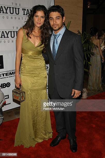 Patricia Velasquez and Wilmer Valderrama attend Wayuu Taya Foundation Dinner at Tribeca Grand Hotel NYC USA on June 20 2005