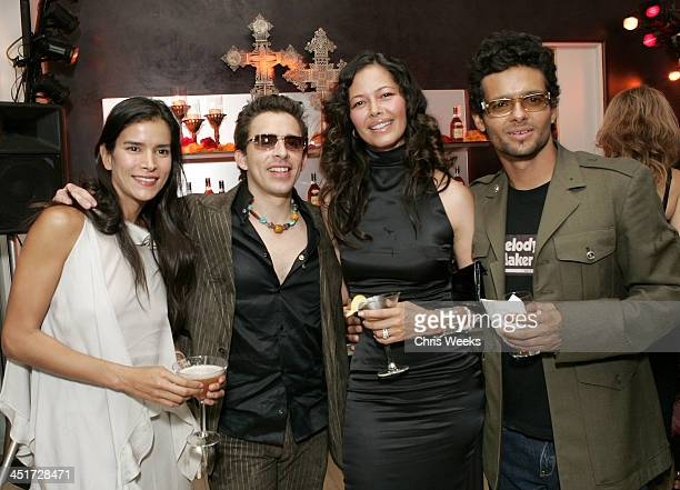 Patricia Velasquez guest Angela Alvarado Rosa and Robi Draco Rosa and guests