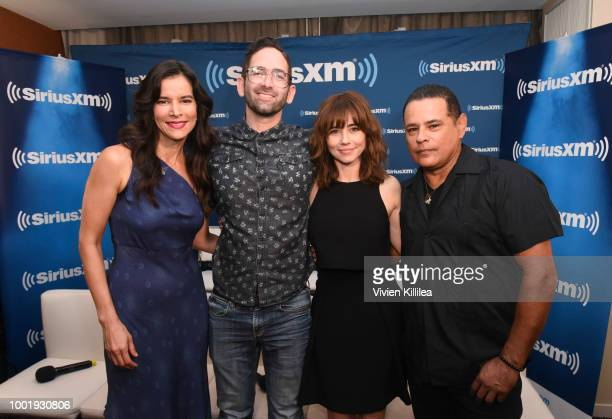 Patricia Velasquez Michael Chaves Linda Cardellini and Raymond Cruz attend SiriusXM's Entertainment Weekly Radio Broadcasts Live From Comic Con in...