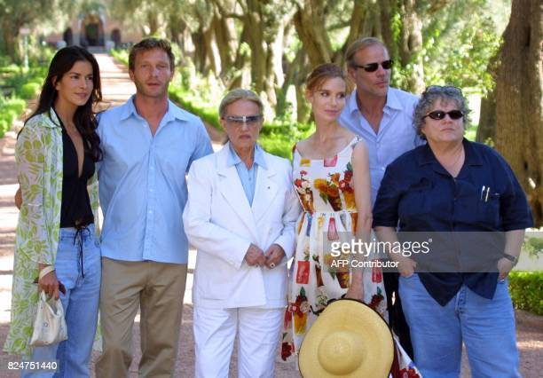 Patricia Velasquez Thomas Kretschmann Jeanne Moreau Anna Thomson Pascal Greggory and Josee Dayan the members of the jury of the second Marrakech film...
