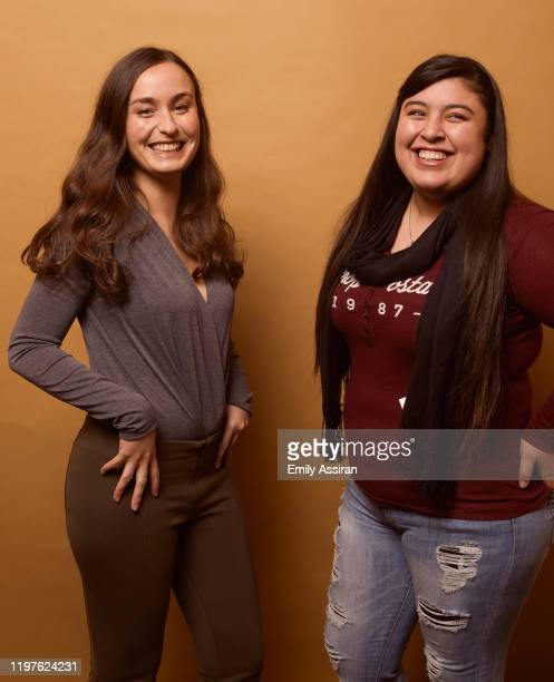 Patricia Vidal Delgado and Monica Betencourt from La Leyenda Negra pose for a portrait at the Pizza Hut Lounge on January 24 2020 in Park City Utah