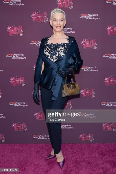 Patricia Ward arrives to Mancini Delivered A Musical Tribute To Ginny And Henry Mancin at Wallis Annenberg Center for the Performing Arts on April 1...