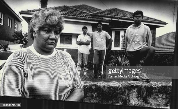 Patricia Weatherall with her 3 sons LR in horizontal picsPeter 14 Raymond 17 and Ralph 15 who have each been victims of Racial Discrimination and...