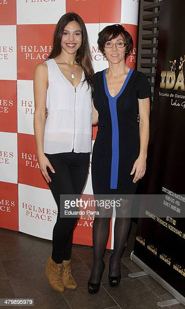 Patricia Yurena and Lola Gonzalez attend 'iDance' opening photocall at Holmes Palace on March 21 2014 in Madrid Spain