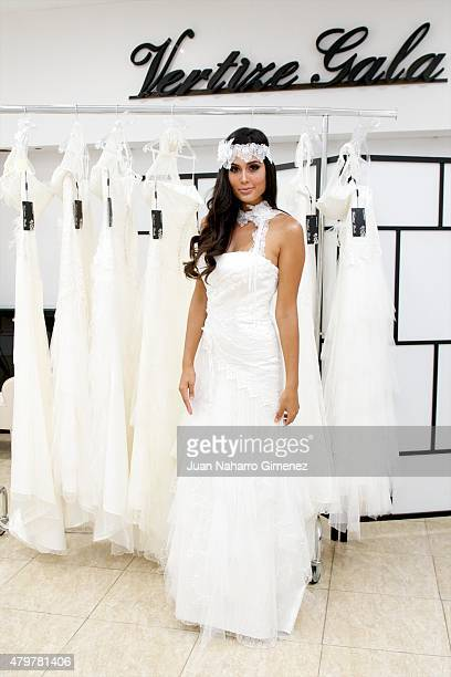06bad90fb Patricia Yurena model chosen by Vertize Gala s new face of their 2016  bridal collection poses during