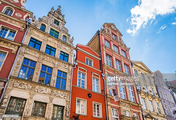 patrician houses at long lane gdansk - gdansk stock pictures, royalty-free photos & images