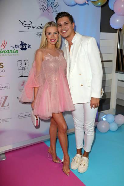 "DEU: Patricija Belousova And Alexandru Ionel Host ""Gender-Reveal-Party"" In Hamburg"