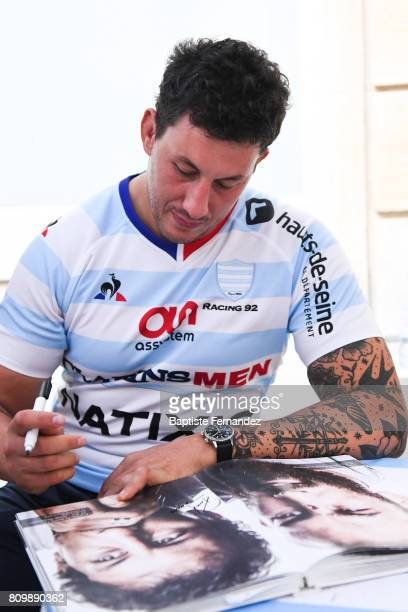 Patricio Albacete new signing player of Racing 92 during press conference of Racing 92 on July 6 2017 in Paris France