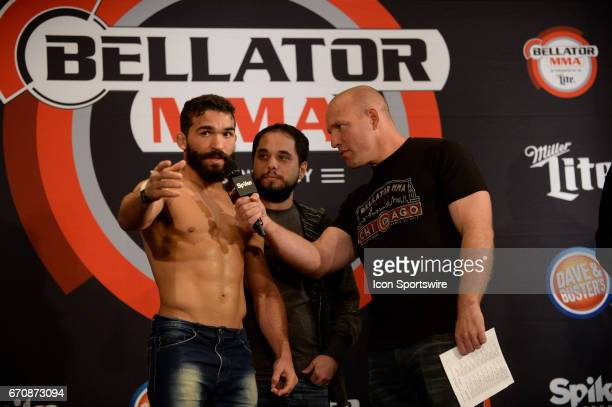 Patricio Freire pose for photos at the weigh-in. Patricio Freire will be challenging Daniel Straus for the Featherweight title in Bellator 178 on...