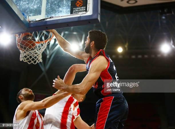 Patricio Garino #29 of Baskonia Vitoria Gasteiz in action during the 2017/2018 Turkish Airlines EuroLeague Regular Season Round 21 game between...