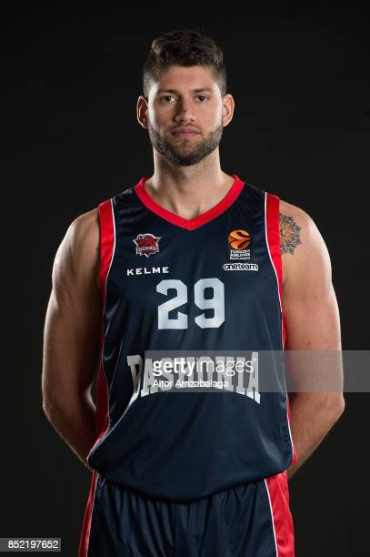 Patricio Garino #29 poses during Baskonia Vitoria Gasteiz 2017/2018 Turkish Airlines EuroLeague Media Day at Fernando Buesa Arena on September 21...