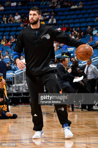 Patricio Garino of the Orlando Magic warms up before the game against the Indiana Pacers on March 24 2017 at Amway Center in Orlando Florida NOTE TO...