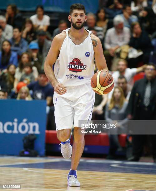 Patricio Garino of the White Team drives the ball during the 29th Liga Nacional AllStar Game at Roberto Pando Sports Center of San Lorenzo on July 23...
