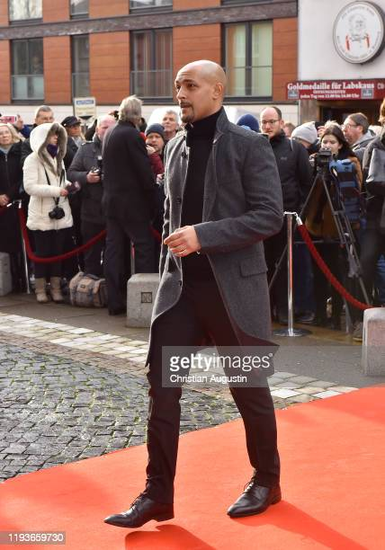 Patrick Abozen during the memorial service for Jan Fedder at Hamburger Michel on January 14 2020 in Hamburg Germany German actor Jan Fedder was...