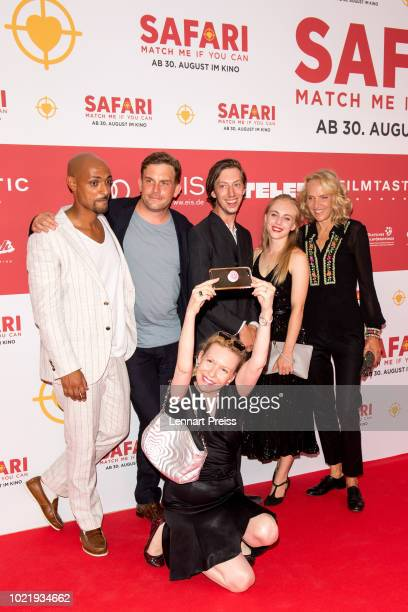 Patrick Abozen , Sebastian Bezzel, Sunnyi Melles, Max Mauff, Elisa Schlott and Juliane Koehler attend the premiere of 'Safari - Match Me If You Can'...