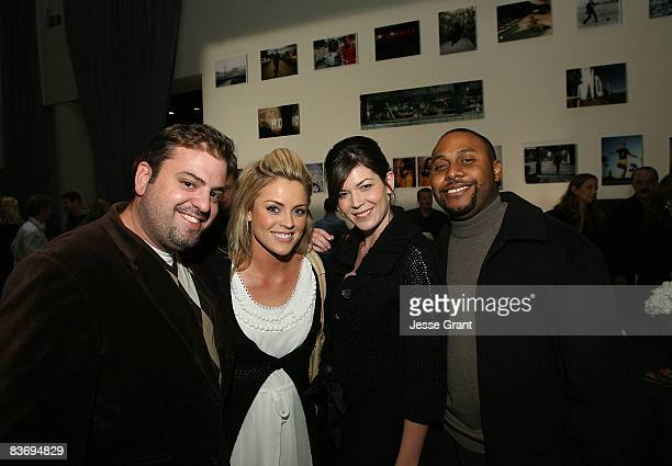 Patrick Aluise Carla Doerr Toni Feddersen and Justin Thompson attend the Contour by Getty Images Exhibit Opening at the Arclight Hollywood on...