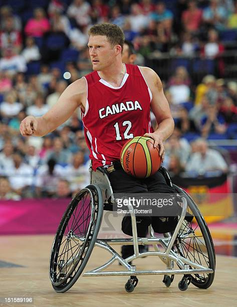 Patrick Anderson of Canada in action during the gold medal Wheelchair Basketball match between Australia and Canada on day 10 of the London 2012...