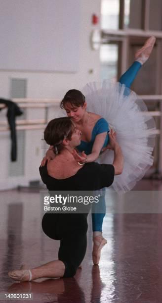 Patrick Armand and Pollyana Ribeiro practice for The Sleeping Beauty at the Boston Ballet